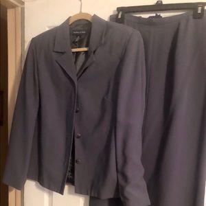 Preston & York Gray Size 10 skirt suit